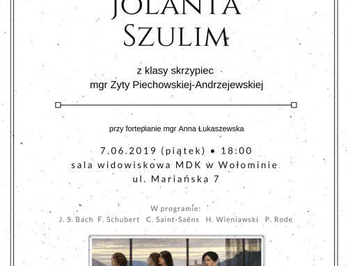 RECITAL DYPLOMOWY JOLANTY SZULIM